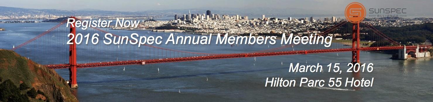 SunSpec Alliance Annual Member Meeting – Agenda and Registration Open
