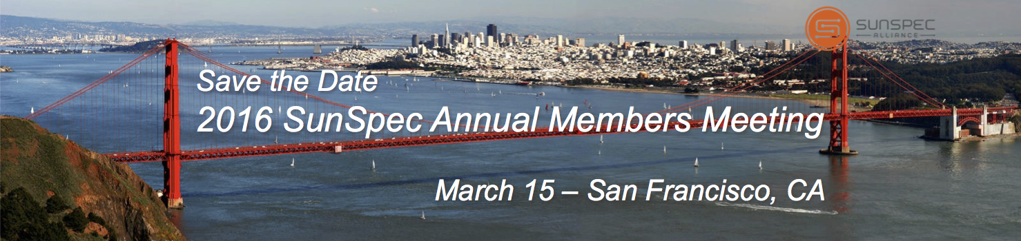 SunSpec Alliance Annual Member Meeting – Save the Date