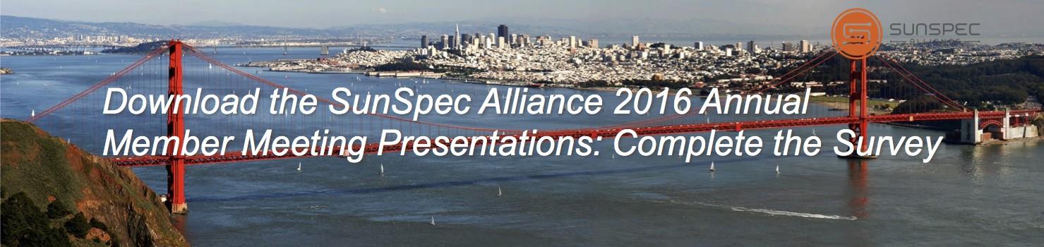 SunSpec Alliance 2016 Annual Member Meeting Survey