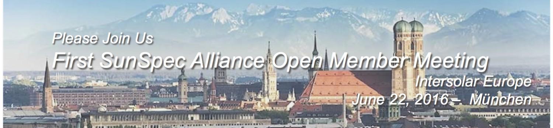 SunSpec Alliance Open Member Meeting at Intersolar Europe