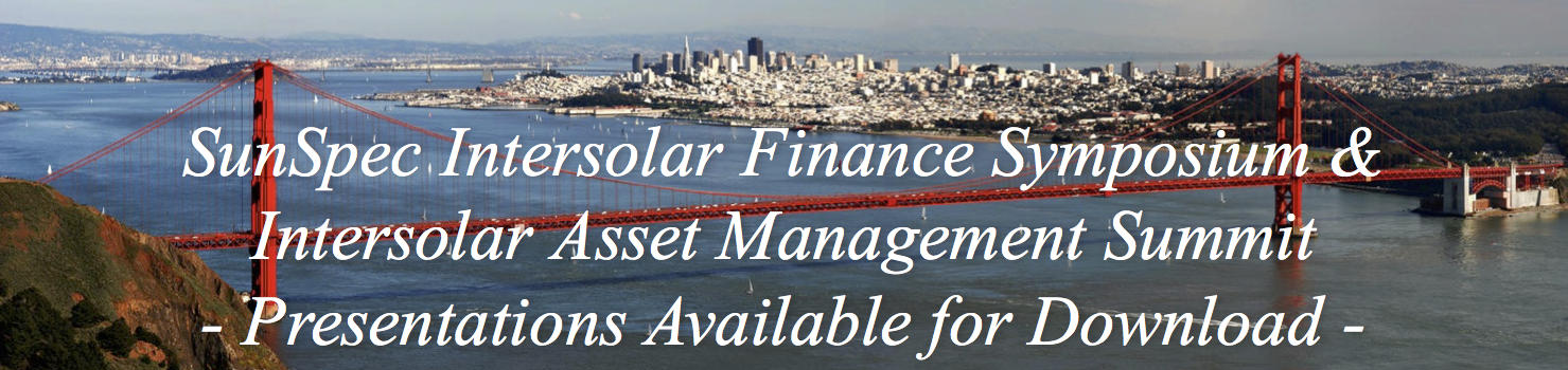 Join Us at Intersolar Finance Symposium and Asset Management Summit