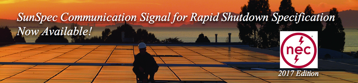 Communication Signal for Rapid Shutdown Specification Now Available!
