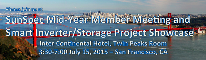 SunSpec Mid-Year Member Meeting and Smart Inverter/Storage Project Showcase