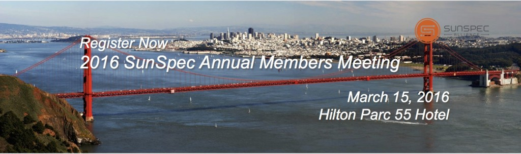 Register Now: SunSpec Alliance Annual Member Meeting