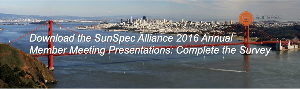 SunSpec Alliance 2016 Annual Member Meeting Survey