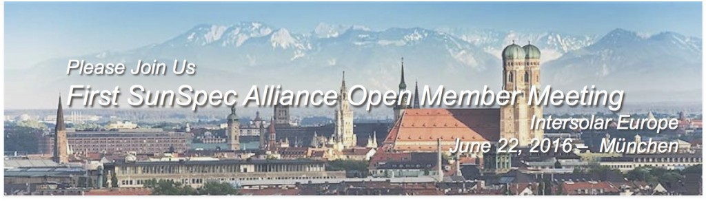 SunSpec Alliance Open Member Meeting at Intersolar Europe
