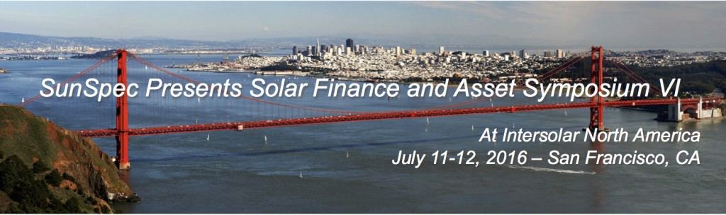 Intersolar Finance and Asset Management Conference July 11 and 12 in San Francisco