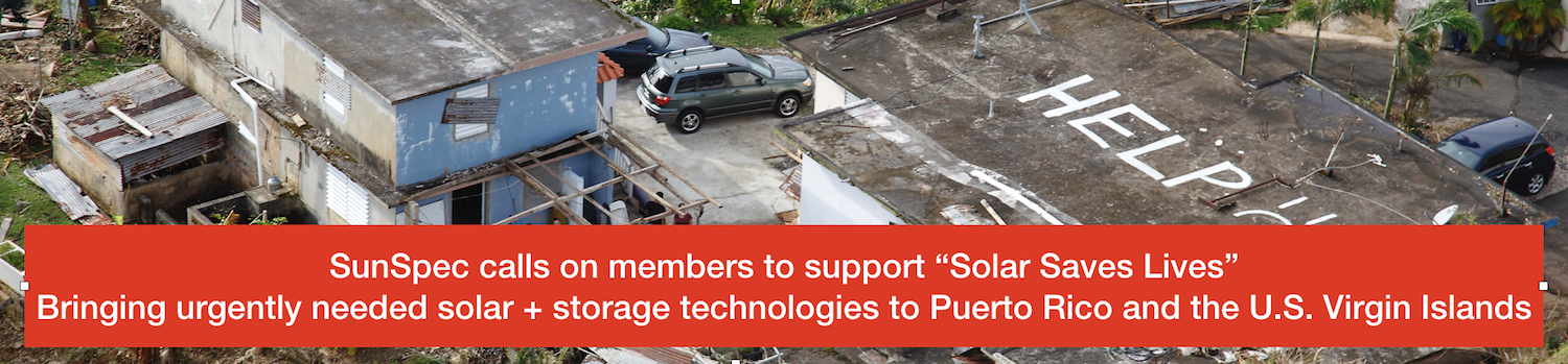 SunSpec Takes Technical Leadership Position in Puerto Rico Energy Relief Effort
