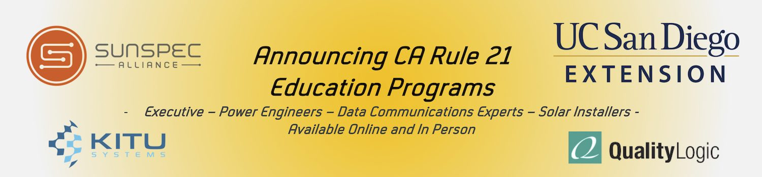 SunSpec California Rule 21 Educational Program