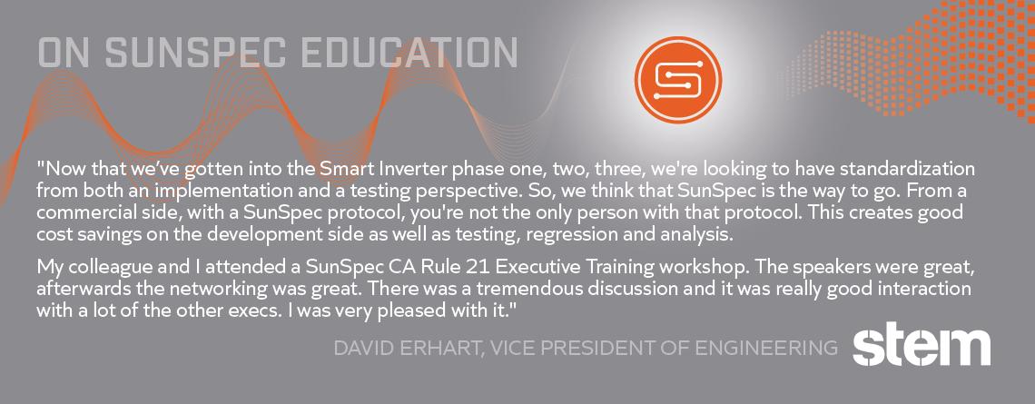 On SunSpec Education from Stem