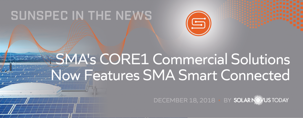 SMA's CORE1 Commercial Solutions Now Features SMA Smart Connected