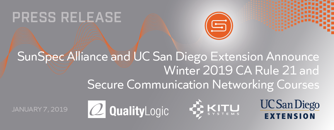 SunSpec press release winter 2019 UCSDX courses image