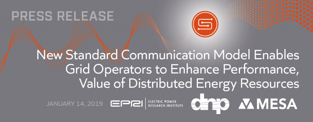New Standard Communication Model Enables Grid Operators to Enhance Performance, Value of Distributed Energy Resources