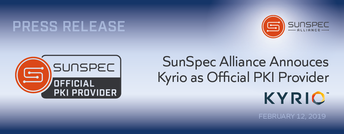 SunSpec PKI Provider press release image