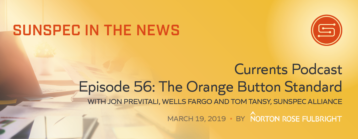 SunSpec in the News Podcast on Orange Button image
