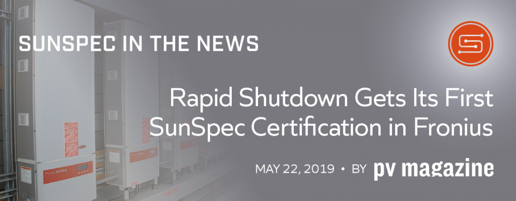 Rapid Shutdown Gets Its First Sunspec Certification in Fronius