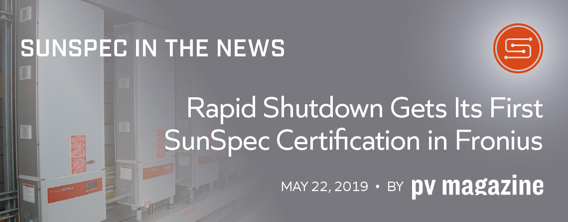 SunSpec Rapid Shutdown Certification Fronius image