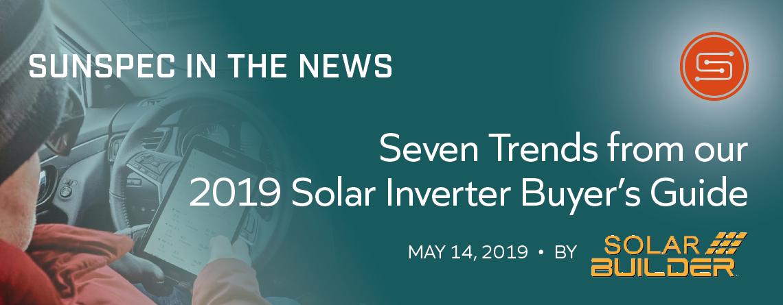 SunSpec Solar Builder In News Inverter Trends image