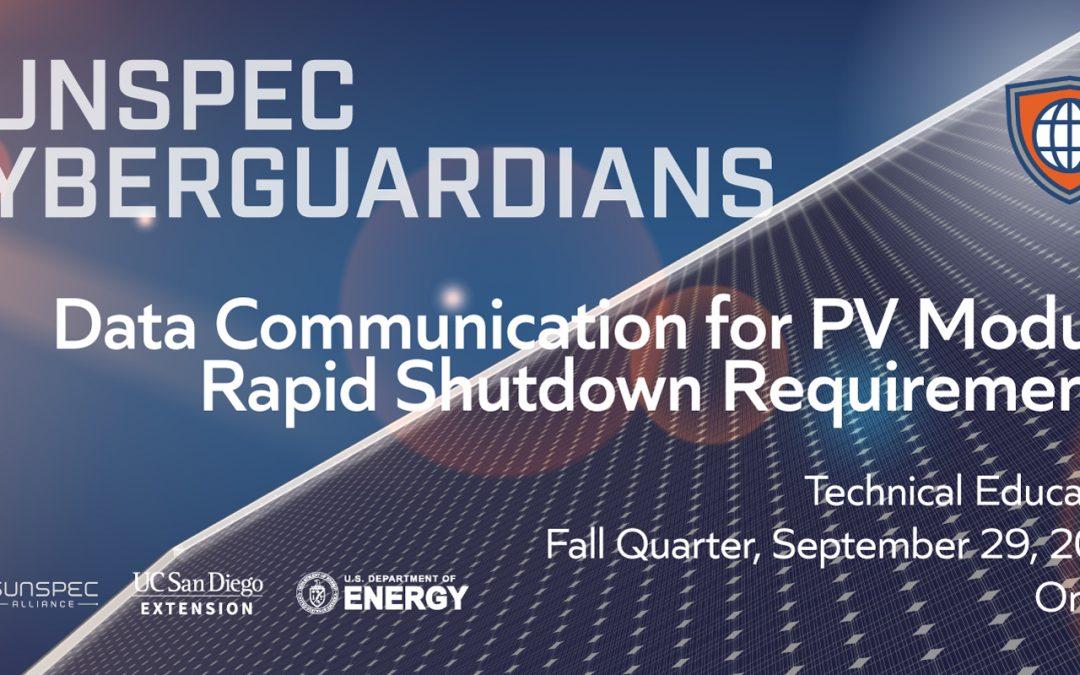 Data Communication for PV Module Rapid Shutdown Requirements
